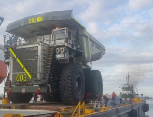 Marine Warranty Survey of the loading and towage of six (6) Dump Trucks- 250 M.T (Liebherr T-284) on board the barge at MIT, Colon, Panama