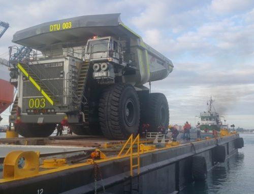 Survey de Garantia Maritima para el cargue y remolque de  seis (6) Camiones Volquete de 250 Toneladas  (Liebherr T-284) a una Barcaza en Colon, Panamá